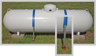 Side mounted propane tank anchoring system
